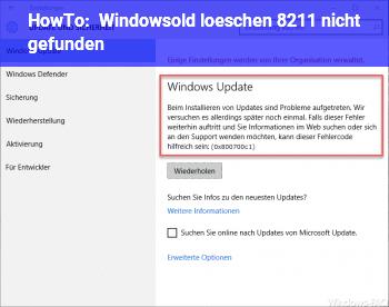 HowTo Windows.old löschen – nicht gefunden