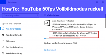 HowTo YouTube 60fps Vollbildmodus ruckelt
