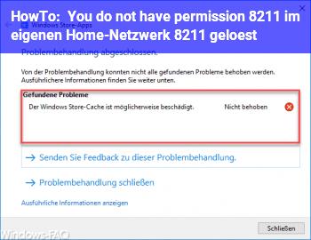 HowTo You do not have permission – im eigenen Home-Netzwerk – gelöst!