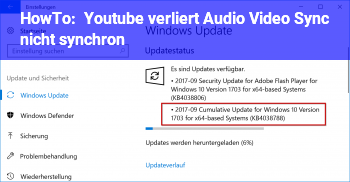 HowTo Youtube verliert Audio Video Sync / nicht synchron