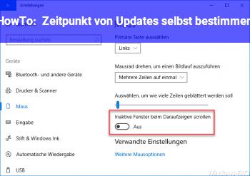 HowTo Zeitpunkt von Updates selbst bestimmen