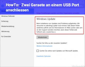 HowTo Zwei Geräte an einem USB Port anschließen?