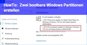 HowTo Zwei bootbare Windows Partitionen erstellen?