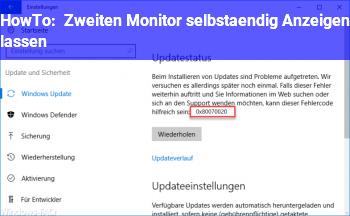 HowTo Zweiten Monitor selbständig Anzeigen lassen?