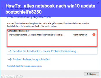 HowTo altes notebook nach win10 update bootschleife…