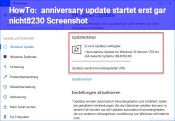 HowTo anniversary update startet erst gar nicht… (Screenshot)
