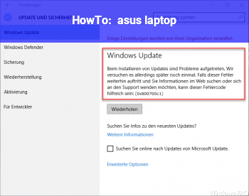 HowTo asus laptop