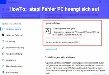 """HowTo """"atapi"""" Fehler, PC hängt sich auf."""