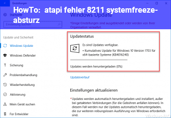 HowTo atapi fehler – systemfreeze- / absturz