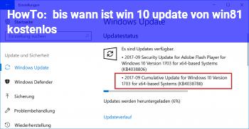 HowTo bis wann ist win 10 update von win8.1 kostenlos
