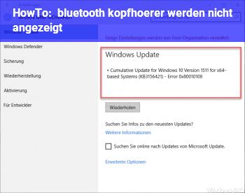 HowTo bluetooth kopfhörer werden nicht angezeigt