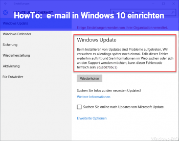 HowTo e-mail in Windows 10 einrichten