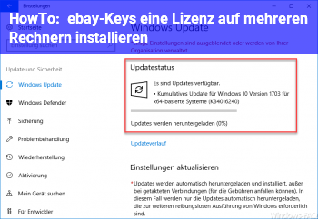 HowTo ebay-Keys / eine Lizenz auf mehreren Rechnern installieren?