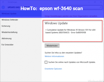HowTo epson wf-3640 scan
