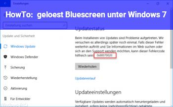 HowTo [gelöst] Bluescreen unter Windows 7