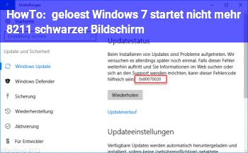 HowTo [gelöst] Windows 7 startet nicht mehr – schwarzer Bildschirm