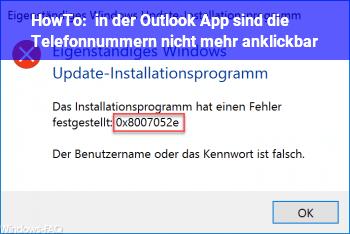 HowTo in der Outlook App sind die Telefonnummern nicht mehr anklickbar