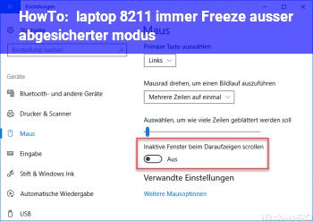 HowTo laptop – immer Freeze (außer abgesicherter modus)