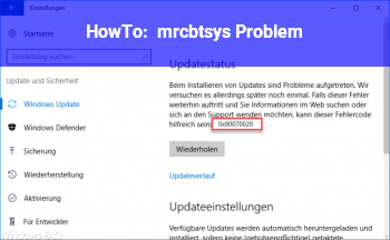 HowTo mrcbt.sys Problem