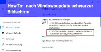 HowTo nach Windowsupdate schwarzer Bildschirm