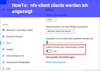 HowTo nfs-client (clients werden ich angezeigt)