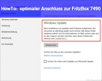 HowTo optimaler Anschluss zur FritzBox 7490