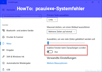 HowTo pcaui.exe-Systemfehler