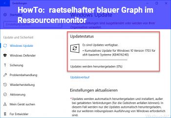 HowTo rätselhafter blauer Graph im Ressourcenmonitor