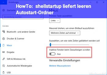 HowTo shell:startup liefert leeren Autostart-Ordner