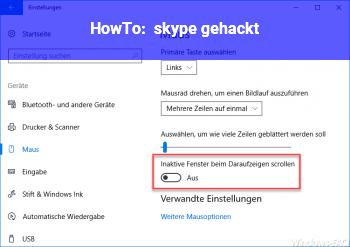 HowTo skype gehackt