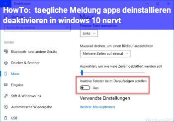"""HowTo tägliche Meldung """"apps deinstallieren deaktivieren in windows 10"""" nervt"""