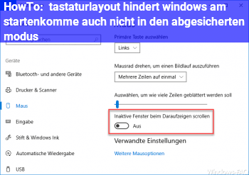HowTo tastaturlayout hindert windows am starten,komme auch nicht in den abgesicherten modus
