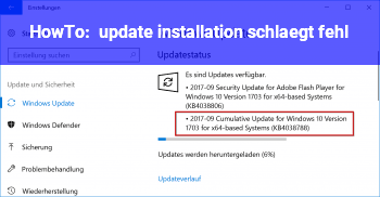 HowTo update installation schlägt fehl