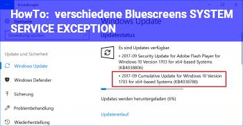 HowTo verschiedene Bluescreens, SYSTEM_SERVICE_EXCEPTION