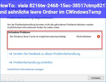 HowTo viele 'tw-2468-15ec-38517c.tmp' und ähnliche leere Ordner im C:\Windows\Temp