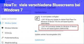 HowTo viele verschiedene Bluescreens bei Windows 7