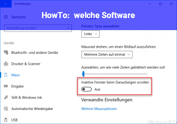 HowTo welche Software
