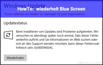 HowTo wiederholt Blue Screen