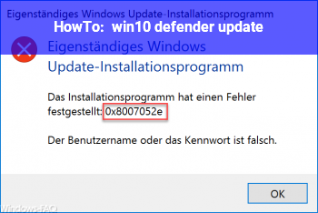 HowTo win10 defender update