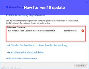 HowTo win10 update