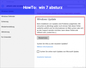 HowTo win 7 absturz