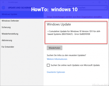 HowTo windows 10