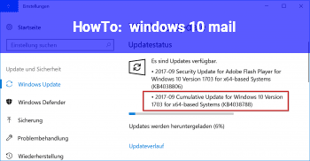 HowTo windows 10 mail