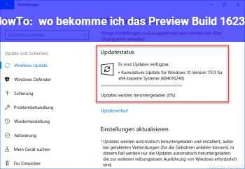 HowTo wo bekomme ich das Preview Build 16232