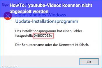 Videos Werden Nicht Abgespielt