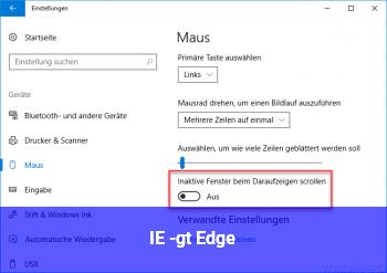 IE -> Edge
