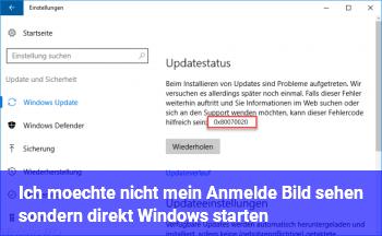 Ich möchte nicht mein Anmelde Bild sehen sondern direkt Windows starten