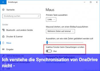 Ich verstehe die Synchronisation von OneDrive nicht :-(