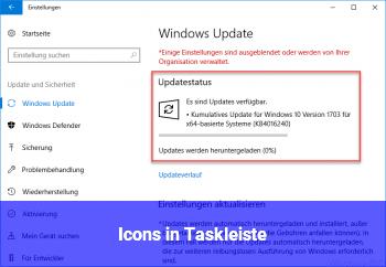 Icons in Taskleiste