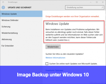 Image Backup unter Windows 10